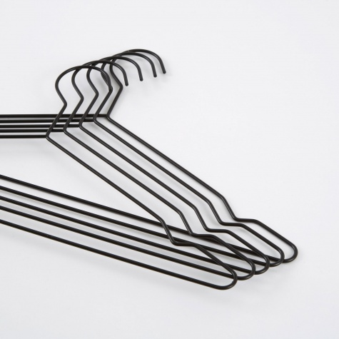 Hang Set Of 5 Hangers - Black