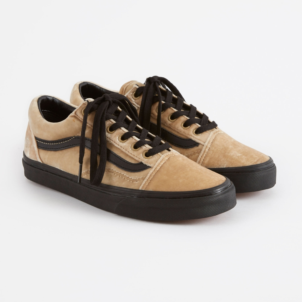 8dfe4aef723dcf Vans Old Skool Velvet - Tan Black
