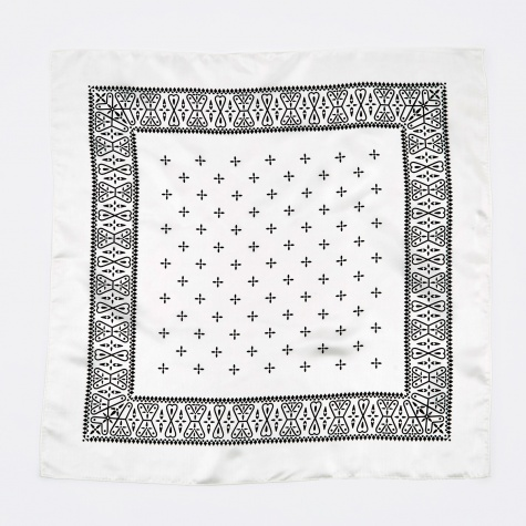 Silk Bandana - White