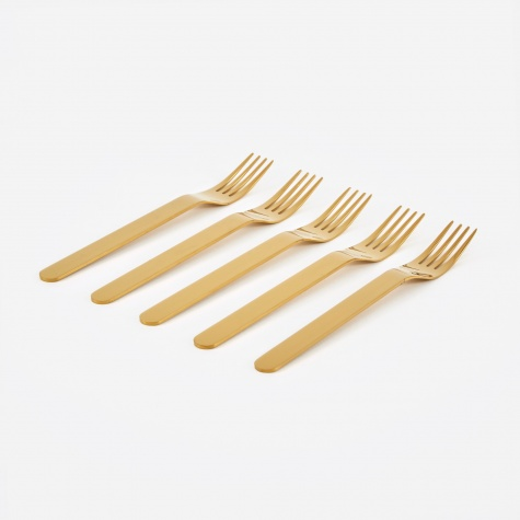 Everyday Fork Set of 5 - Golden