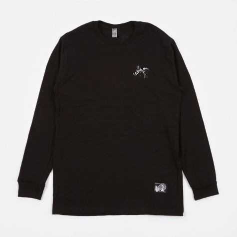 Hitting The Pipes Embroidered LS T-Shirt - Black