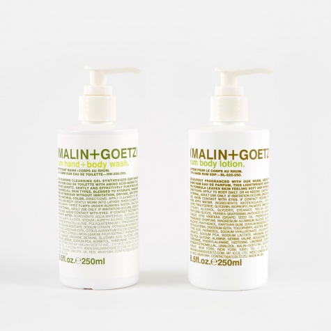 Malin+Goetz Rum Hand Wash & Lotion Set