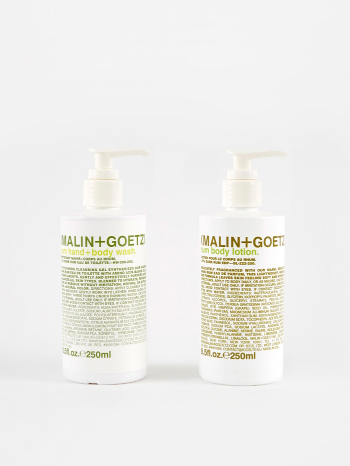 Malin+Goetz Rum Hand Wash & Lotion Set (Image 1)