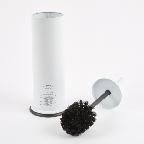 Steel Toilet Brush - White