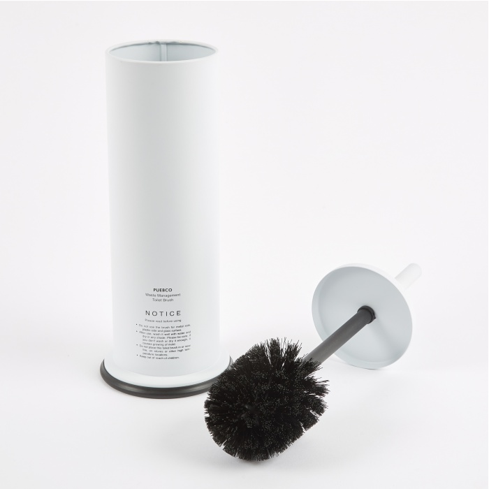 Puebco Steel Toilet Brush - White (Image 1)