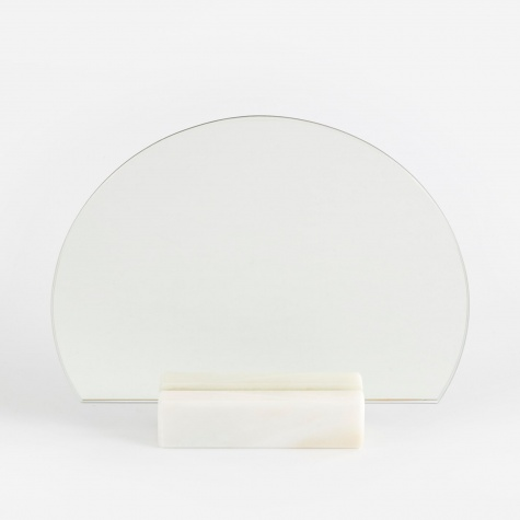 Half Moon Mirror - Marble Base