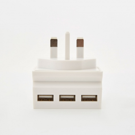 Hide Mini 3-in-1 USB Charger & Phone Stand - White