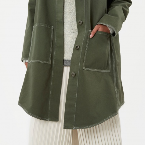 MM6 Mid Length Canvas Jacket - Khaki