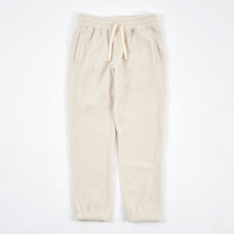 Deep Pile Fleece Camper Pant - White