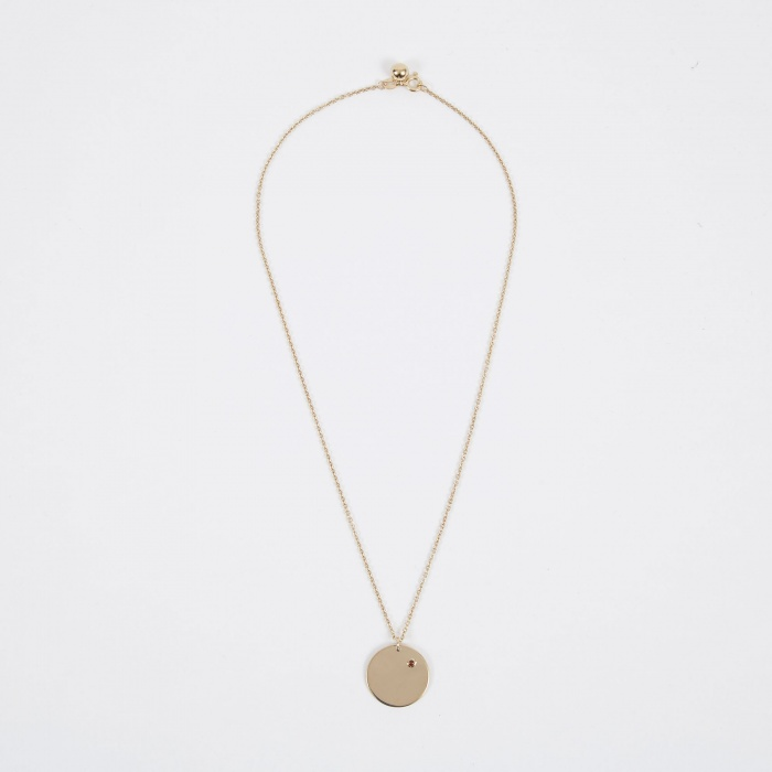 Trine Tuxen Jan Birthstone Necklace - 14K Gold Plated (Image 1)