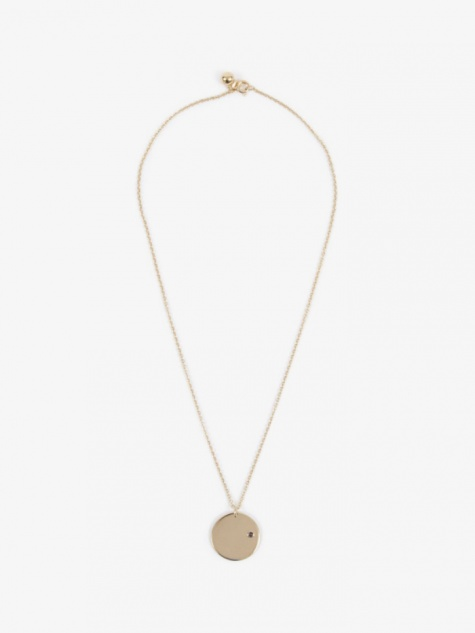 Feb Birthstone Necklace - 14K Gold Plated