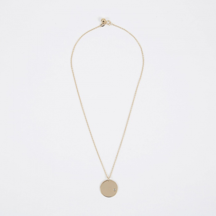 Trine Tuxen March Birthstone Necklace - 14K Gold Plated (Image 1)