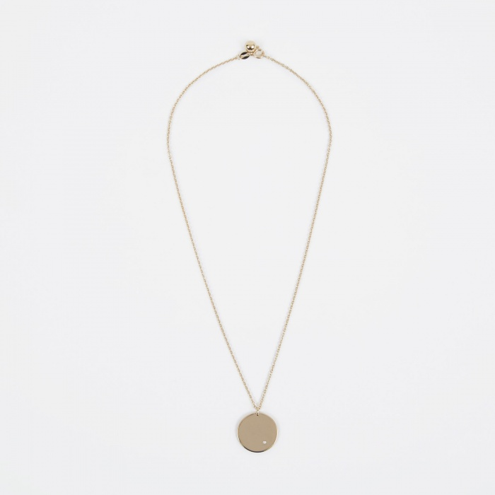 Trine Tuxen Apr Birthstone Necklace - 14K Gold Plated (Image 1)