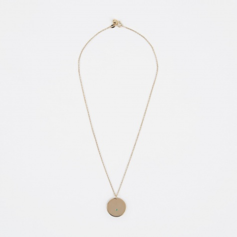 May Birthstone Necklace - 14K Gold Plated