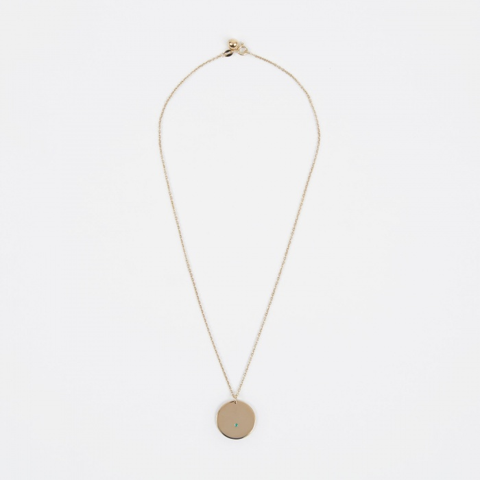 Trine Tuxen May Birthstone Necklace - 14K Gold Plated (Image 1)