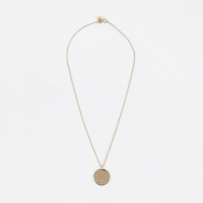 Trine Tuxen June Birthstone Necklace - 14K Gold Plated (Image 1)