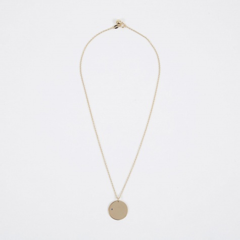 Sept Birthstone Necklace - 14K Gold Plated