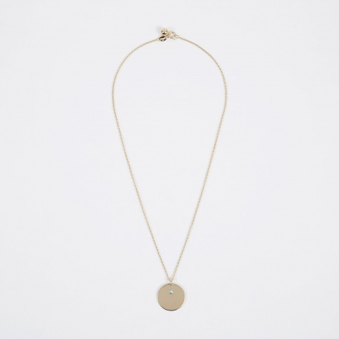 Dec Birthstone Necklace - 14K Gold Plated