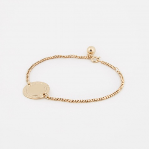 Logo Bracelet - 14K Gold Plated