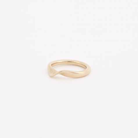 Wave Ring III - 14K Gold Plated