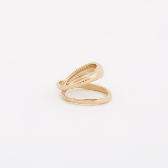 Trine Tuxen Loop Ring - 14K Gold Plated (Image 1)