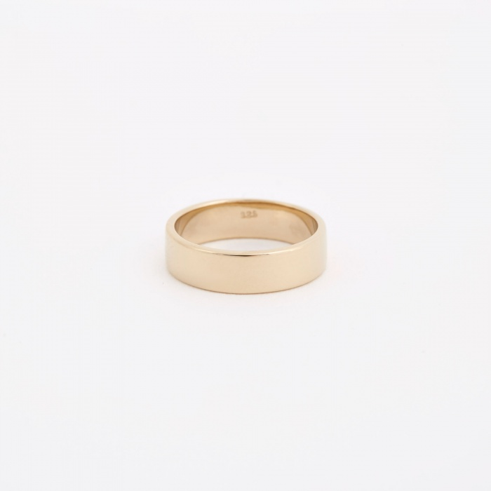 Trine Tuxen Plain Ring - 14K Gold Plated (Image 1)