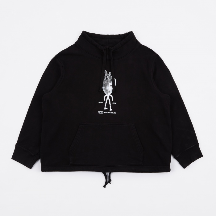 Brain Dead Mock Neck Sweat - Black (Image 1)
