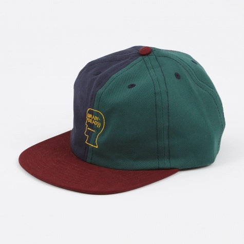 Split Colour Logo Hat - Navy/Green/Burgandy