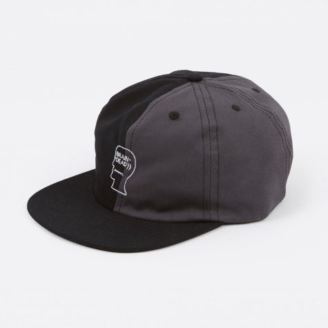 Split Colour Logo Hat - Black/Grey/Charcoal