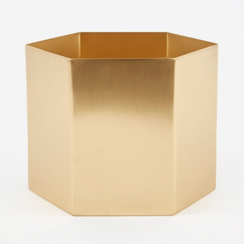 Extra Large Hexagon Pot - Brass