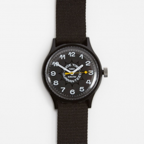 x It's Nice That 'Nice Time Guaranteed' MK1 Watch - Black