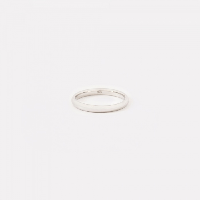 Tom Wood Classic Slim Band Ring - Polished Silver (Image 1)
