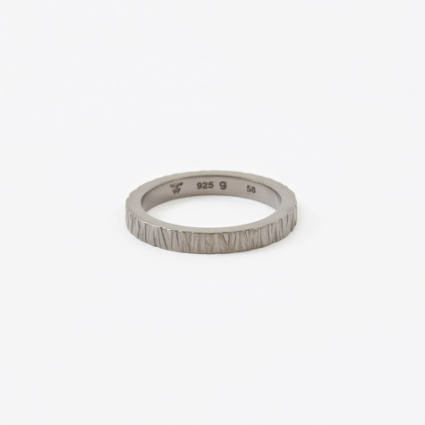 Structure Ring - Silver/Black
