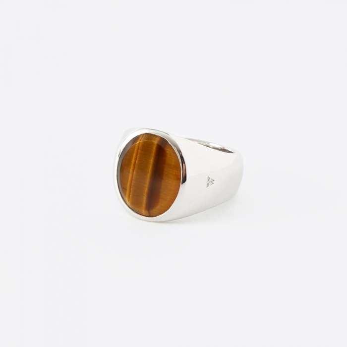Tom Wood Oval Ring - Tigers Eye (Image 1)