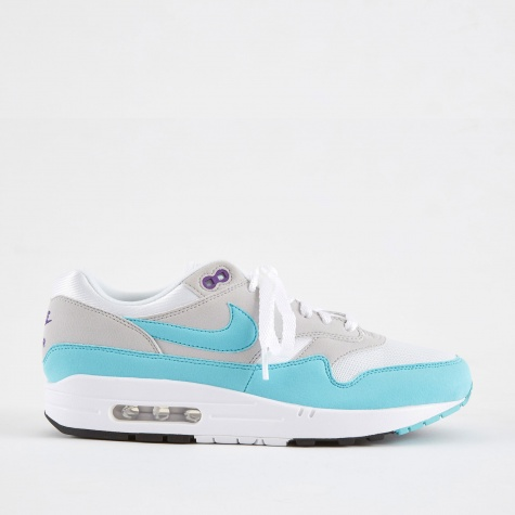 Air Max 1 Anniversary Shoe - White/Aqua