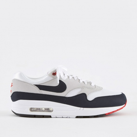 Air Max 1 Anniversary Shoe - White/Dark Obsidian