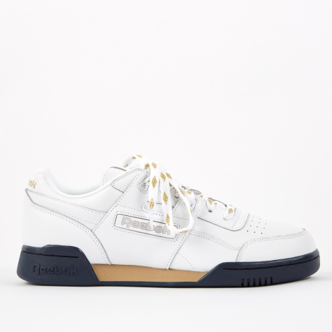 x Beams Workout Lo Plus - White/Gold Met/Coll Navy