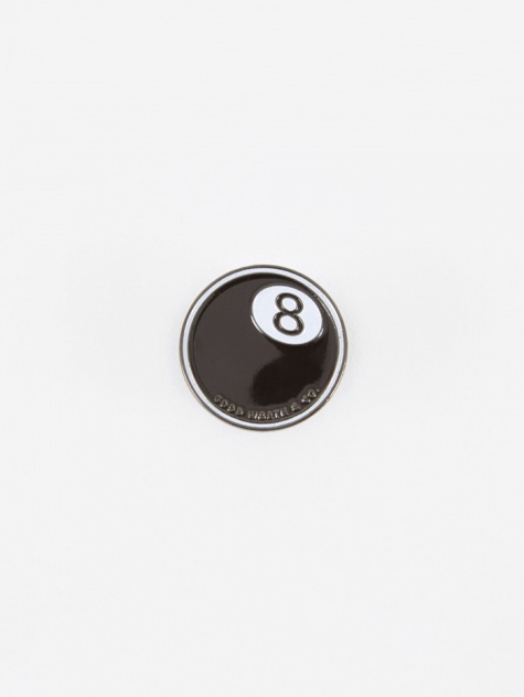 8 Ball Pin - Black/White