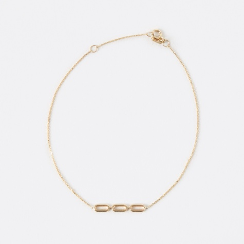 Link Bracelet - 14K Yellow Gold