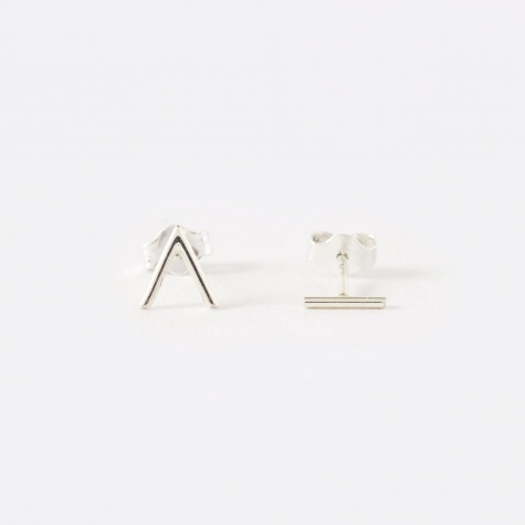 Angle Earrings - 925 Sterling Silver