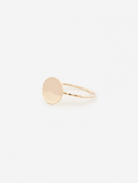 Small Disc Ring - 9k Yellow Gold