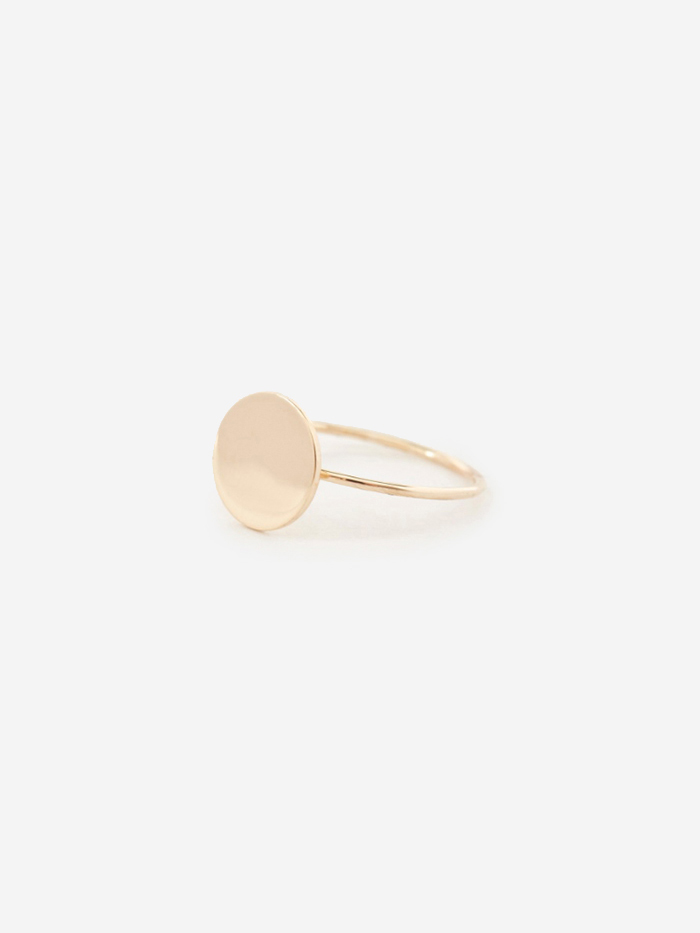 Sarah & Sebastian Small Disc Ring - 9k Yellow Gold (Image 1)
