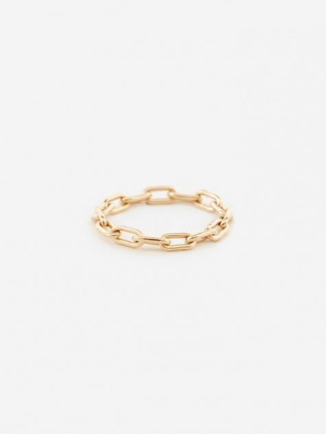 Link Chain Ring - 9K Yellow Gold