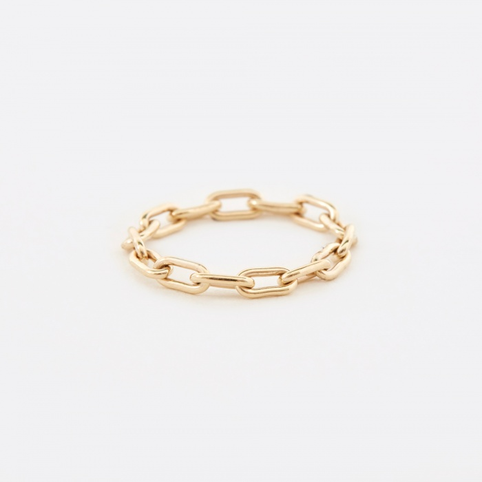 Sarah & Sebastian Link Chain Ring - 9K Yellow Gold (Image 1)
