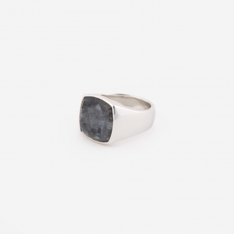 Cushion Ring - Larvikite
