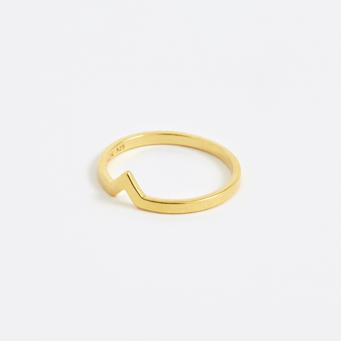 Maria Black Hero Ring - Gold (Image 1)