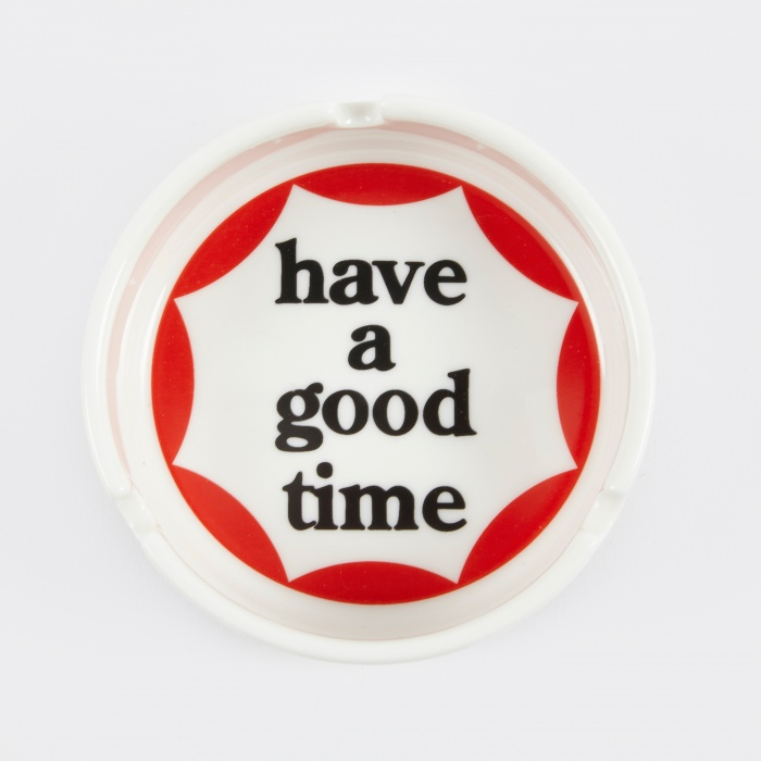 Have A Good Time Circle Logo 9cm Ashtray - White (Image 1)