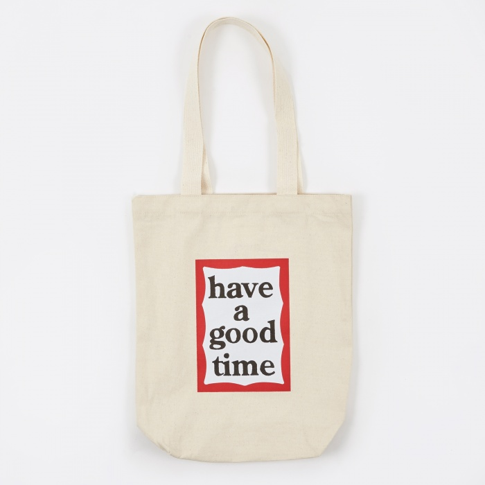 Have A Good Time Frame Tote Bag - Natural (Image 1)