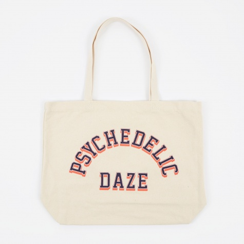 Psychedelic Daze Tote Bag - Natural