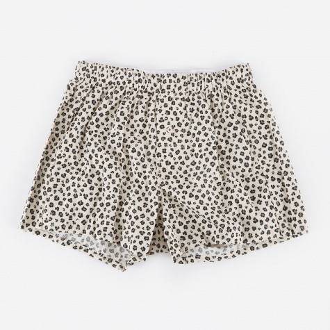 Leopard Boxer Short - White/Grey